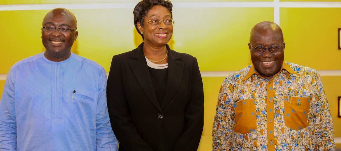 Photo of Official: Akufo-Addo outdoors Sophia Akuffo as new CJ