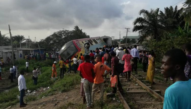 Photo of Photos: Train Derails At Alajo, Scores Injured