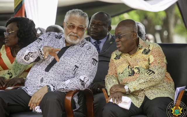 """Photo of Akufo-Addo inherited """"corruption at its worst"""" – Rawlings"""