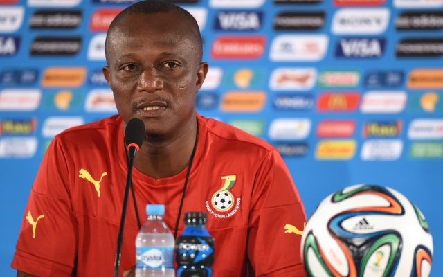 Photo of Appiah taking Egypt match serious
