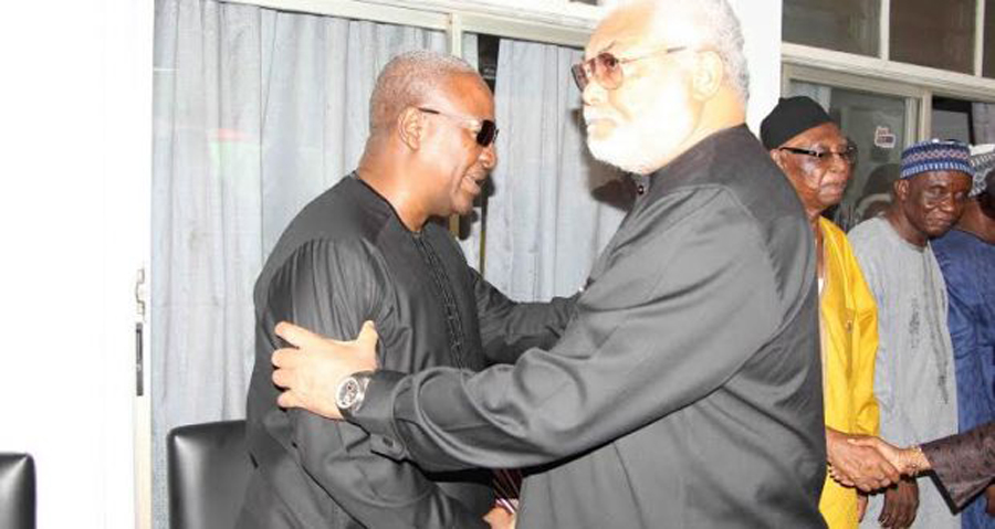 Photo of I'm cool with Rawlings; he only has mood swings – Mahama
